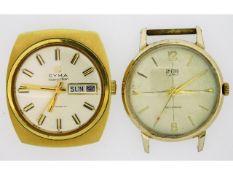 A Cyman Navystar gents automatic wrist watch twinn