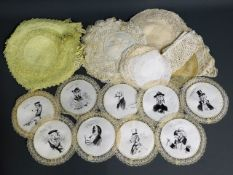 A quantity of linen & lace works including doilies