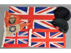 Five ensigns & two military berets