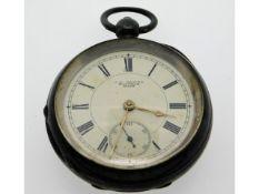 An antique Waltham silver key wind pocket watch, 5