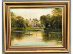 A framed oil of River Wye scene by George Willis-P