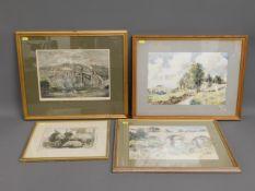 An antique framed print of Royal Albert Bridge, tw