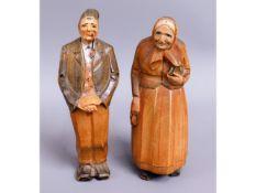 A pair of early 20thC. Swiss folk art Huggler Wyss