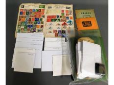 A quantity of mixed stamps off paper in envelopes,