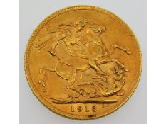 A 1913 full gold sovereign, 7.9g