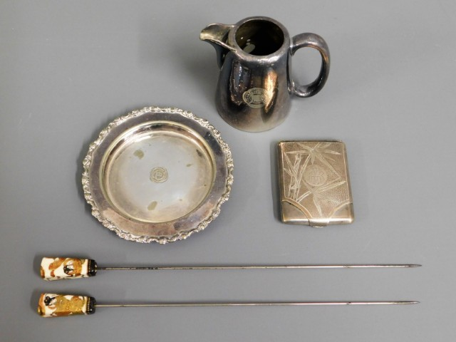 Two Elkington & Co. silver plated items relating t