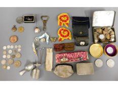 A quantity of pre-1947 coinage, two rosettes, beli