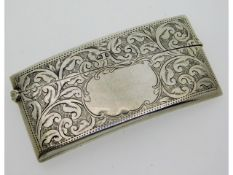 An Edwardian 1907 Birmingham silver card case by J