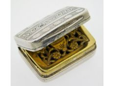An early Victorian 1857 Birmingham silver vinaigre
