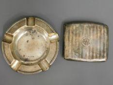A 1911 Horton & Allday silver cigarette case twinn