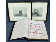 """A P&O issued bible with note to front """"Rescused fr"""
