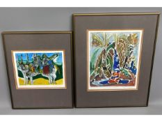 Two framed & mounted limited edition signed plasto