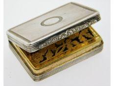 An early Victorian 1839 London silver vinaigrette