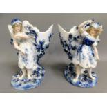 A pair of German Sitzendorf porcelain ornamental s