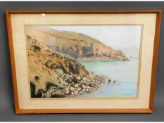 A framed Cornish watercolour by Kenneth Mortimer o
