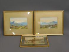 Two antique framed Dartmoor watercolours twinned w