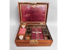 A Dalton rosewood writing box, 10.75in wide