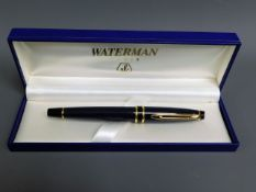 A cased Waterman, Paris fountain pen