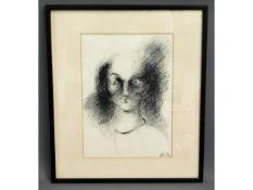 An original study of face by Anca Ionescu, monogra