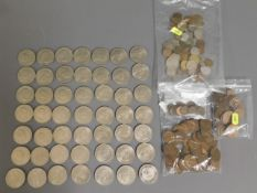 A quantity of mostly Churchill crowns, one £5 coin