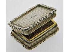 A William IV 1835 Birmingham silver vinaigrette by