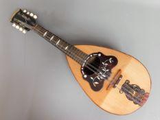 An Italian Gennaro Maglioni of Napoli mandolin wit