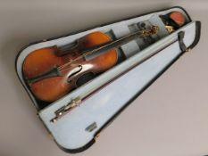 A Stradivarius violin copy with case