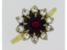 An 18ct gold ring set with approx. 0.5ct diamond &