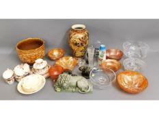 A quantity of mixed glass & ceramics inc. carnival
