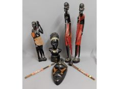 A small collection of decorative ethnic collectabl