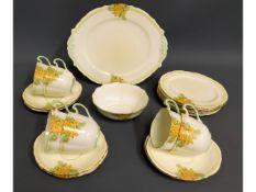 Twenty pieces of floral Paragon tea wares