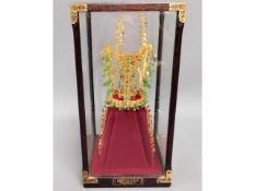 A Kum Kwan-Chong gold crown replica, 24ct gold pla