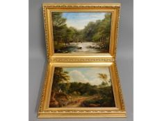 A 1926 oil of river scene by W. Best, image size 1