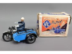A Morestone series RAC motorcycle & sidecar with b