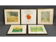 Five framed Icarus related limited edition prints