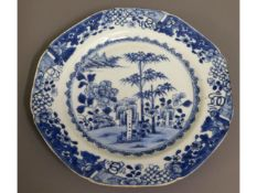 A c.1800 Chinese porcelain plate, 9in diameter