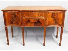 A Edwardian style mahogany sideboard, 54in wide x