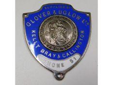 Of motoring interest - a 1930's Glover & Uglow Ltd