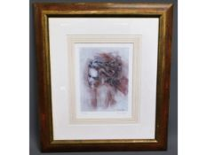A framed limited edition print by Mark Spain, 71/2