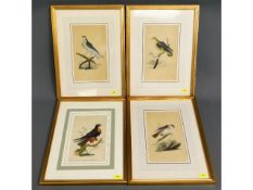 Four framed hand coloured Georgian lithographs of