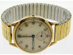 A gents vintage 9ct gold cased Tudor wrist watch w