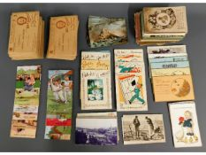 Approx. 338 postcards & cards including numerous T