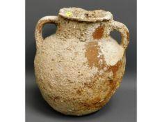 An ancient terracotta pot, possibly Herodian, beli