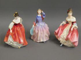 Two Doulton figures, Blithe Morning HN2021 & Fair