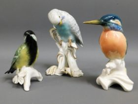 A Karl Ens porcelain Kingfisher & one other Karl E