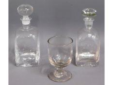 A Georgian glass rummer, 5.75in tall, twinned with