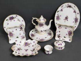 "Nine pieces of Hammersley porcelain ""Victorian Vio"