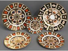 Four Royal Crown Derby Imari 1128 plates, largest