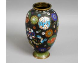 A c.1900 Oriental cloisonne vase, 7in tall