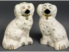A pair of Beswick pottery sheep dogs, 8in tall